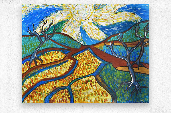 Jana A. Trees in the Sun  Impression metal