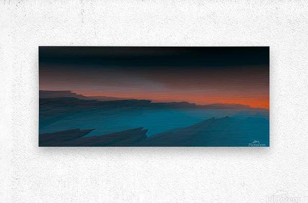 Sunset in the Mountains 3  Metal print