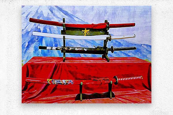 Japanese Sword Display  Metal print