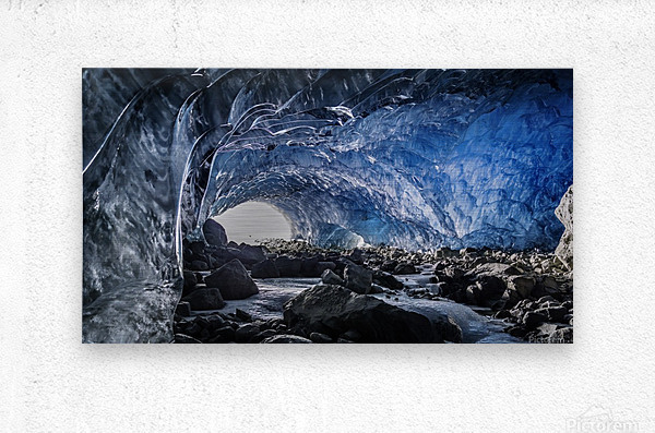 Whistler ice cave  Metal print