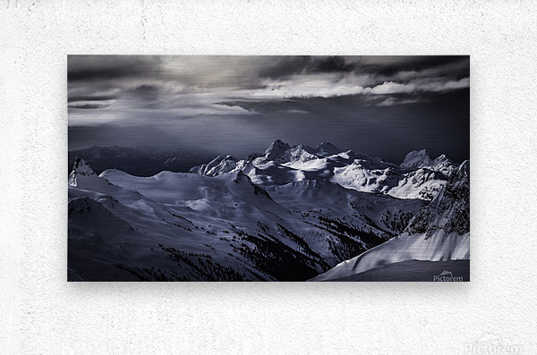 Mountain moods Whistler BC Back-country   Metal print