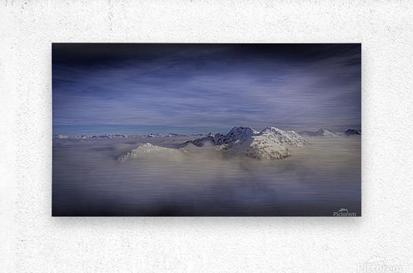 Alpine inversion Kootenay Back country   Metal print