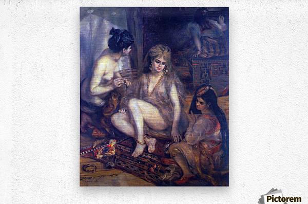 Algerian in Paris dress by Renoir  Metal print