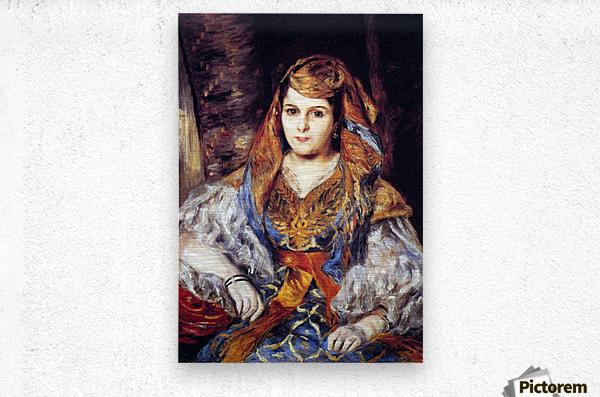 Algerian Woman by Renoir  Metal print