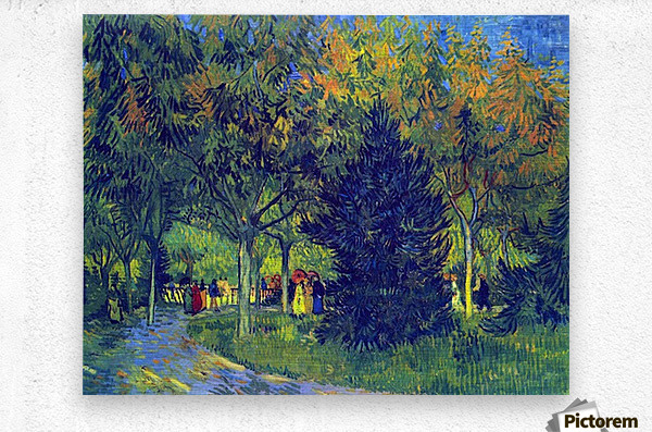 Allee in the Park by Van Gogh  Metal print