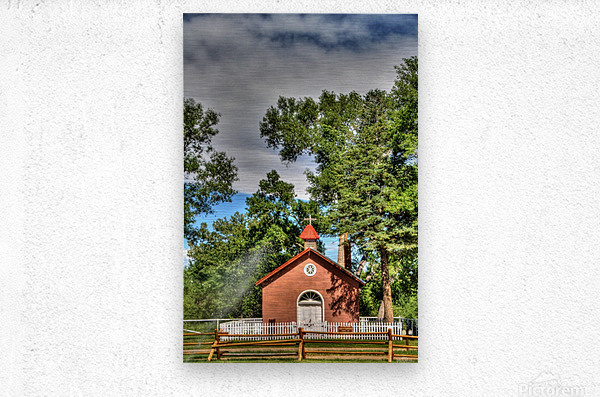 New Mexico Church  Metal print