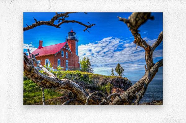 Lake Superior Lighthouse  Metal print