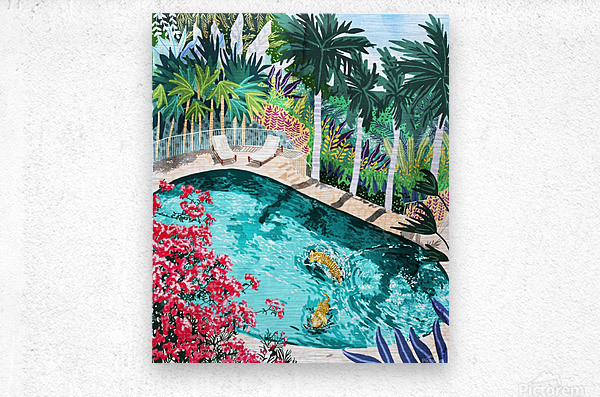 Luxury Villa  Metal print