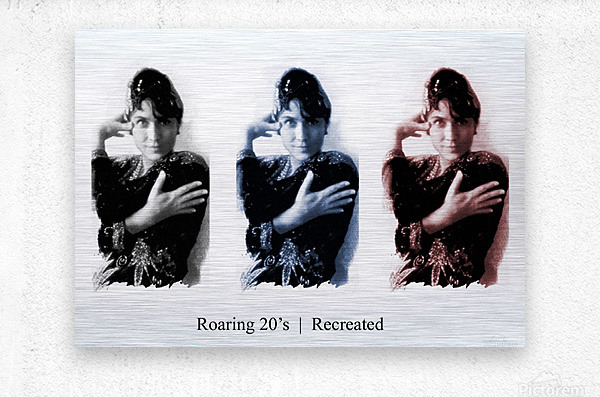 Roaring 20s Recreation Model released triptych of a 1920s flapper.  Metal print
