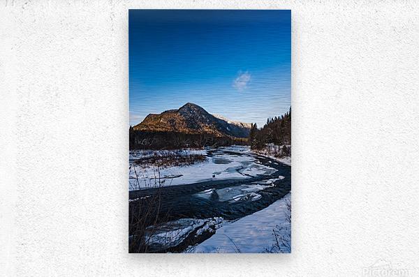 Blue freeze  Metal print