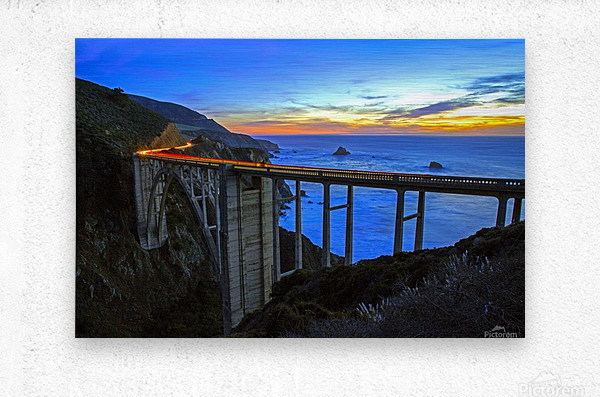 Bixby Blues  Metal print