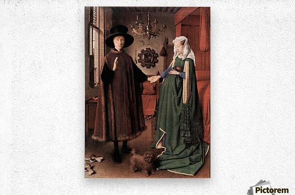 Arnolfini Wedding by Jan Van Eyck  Metal print