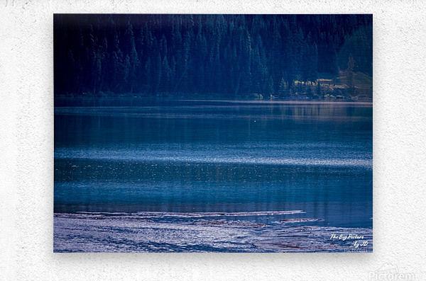 Rocky Mountains Deep Blue  Metal print