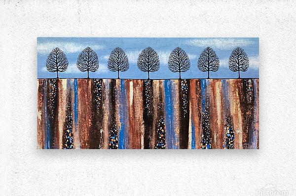 Trees Of Winter  Metal print