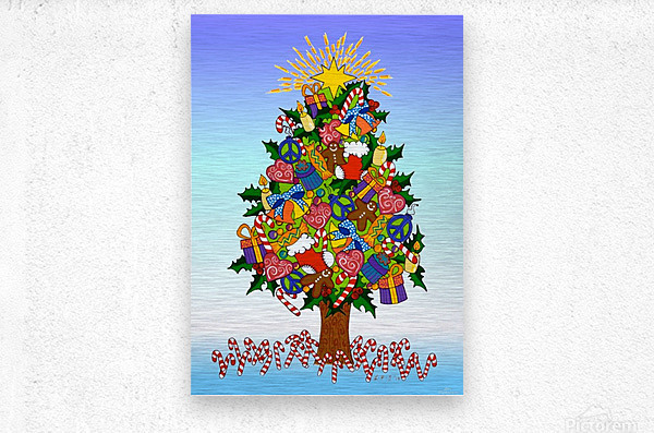 Joy of Christmas  Metal print