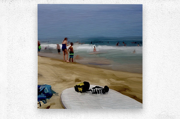 Beach at 52nd Street  Metal print
