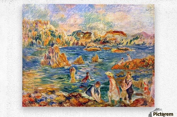 At the beach of Guernesey by Sisley  Metal print