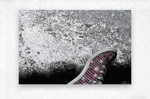 Shoes On  Metal print