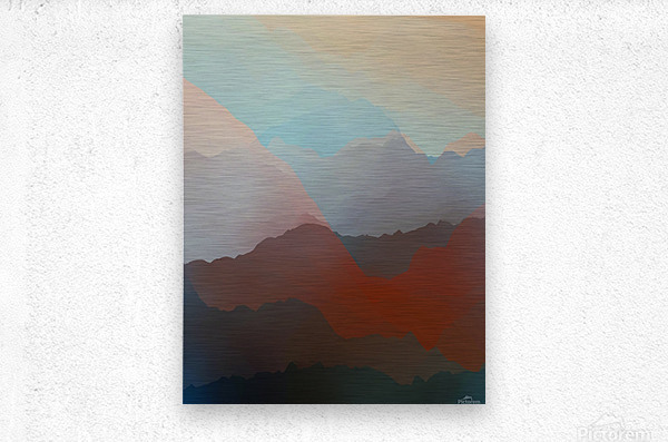 Beautiful Mountains 2  Metal print