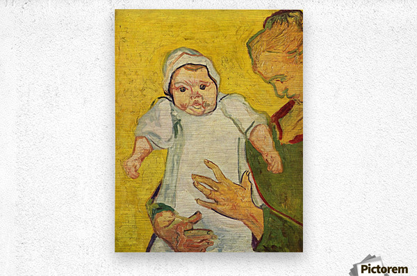 Augustine Roulin with her infant by Van Gogh  Metal print