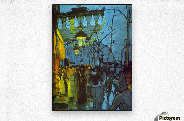 Avenue De Clichy by Anquetin  Metal print