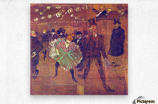 Ball At Moulin-Rouge by Toulouse-Lautrec  Metal print
