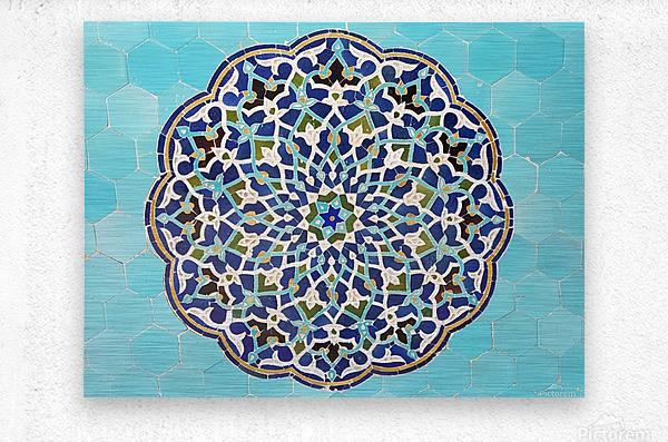 Yazd   Jameh mosque 2  Metal print