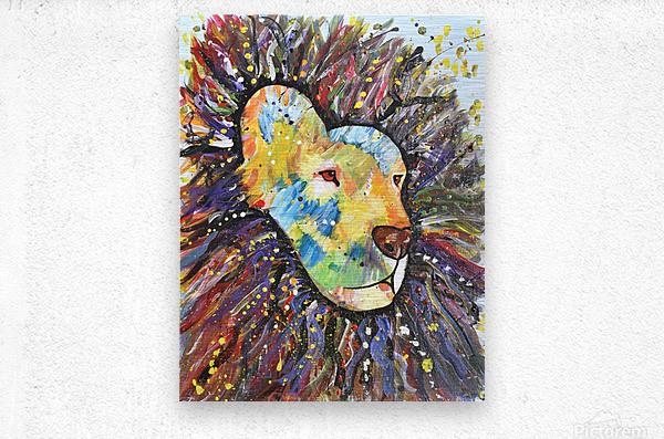 Lively Lion.Maggie Z  Metal print