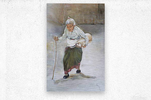 Old_Woman_High_Res  Metal print