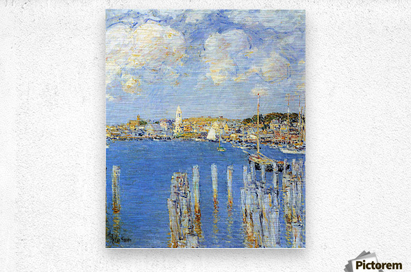 The inland port of Gloucester by Hassam  Metal print