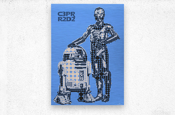 C3PO & R2D2  Metal print