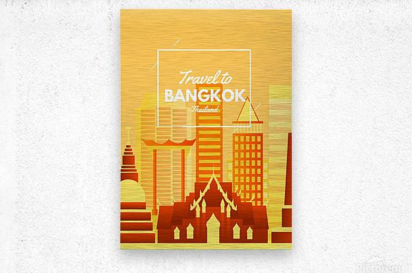 Travel To Bangkok   Thailand  Metal print