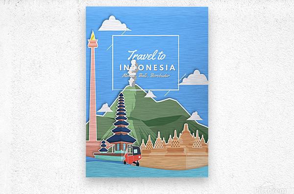 Travel To Indonesia  Metal print