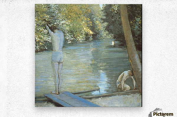 Bathers by Cailiebotte  Metal print