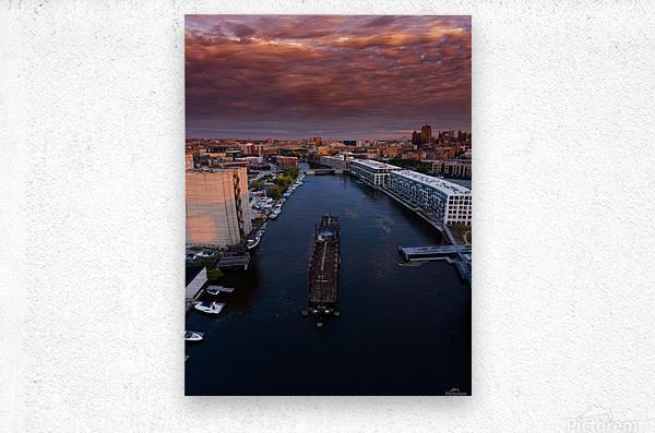 Milwaukee Floating Railway  Impression metal