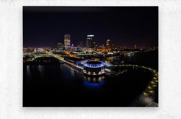 Milwaukee Circle of Lights  Metal print
