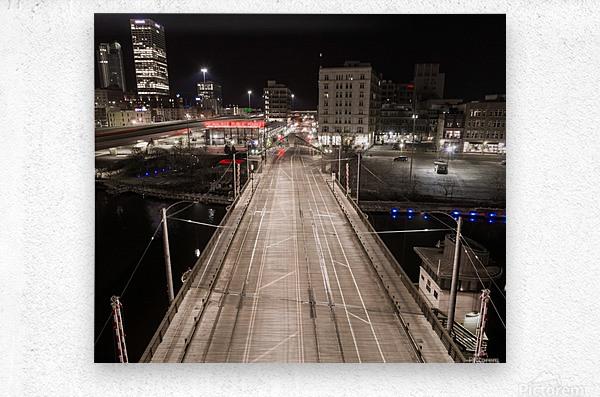 Milwaukee Bridge of The Past  Metal print