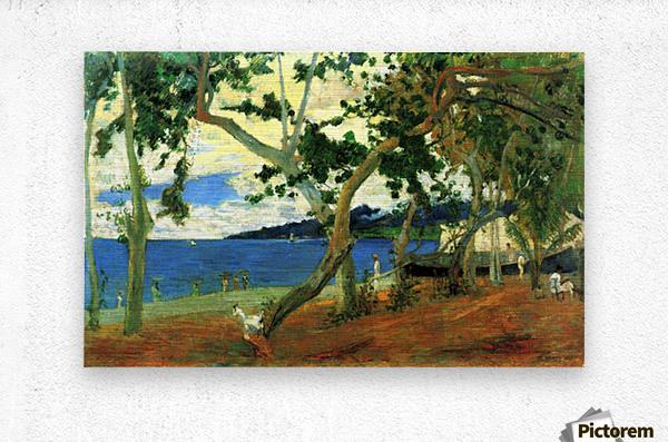 Beach Scene 2 by Gauguin  Metal print