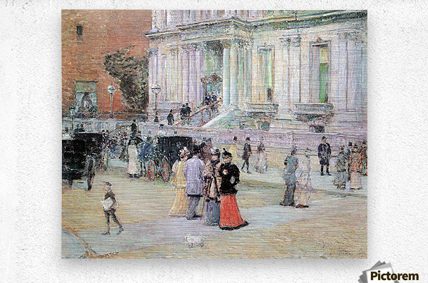 The Manhattan Club (The Villa of the Stewarts) by Hassam  Metal print