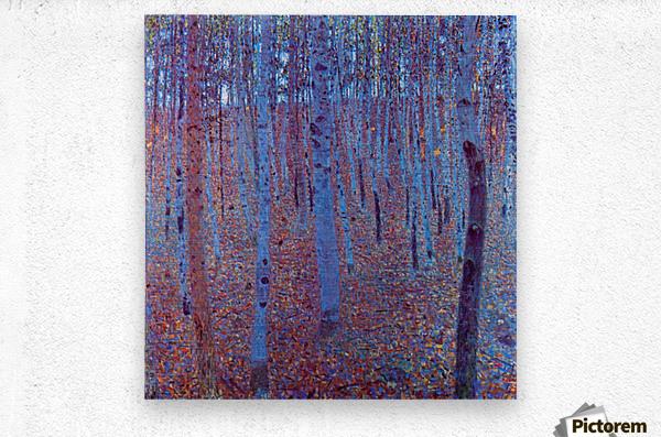 Beech Forest by Klimt  Metal print