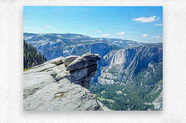 Glacier Point Yosemite Falls  Metal print