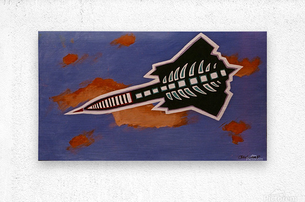 Rocket Ship  Metal print