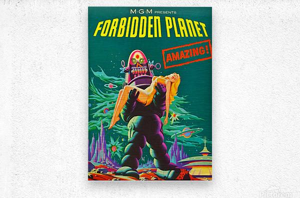 Forbidden Planet - Space Travel  Metal print
