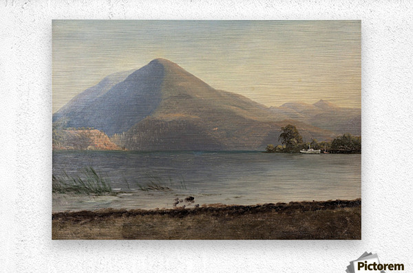 Bierstadt - On the Hudson  Metal print
