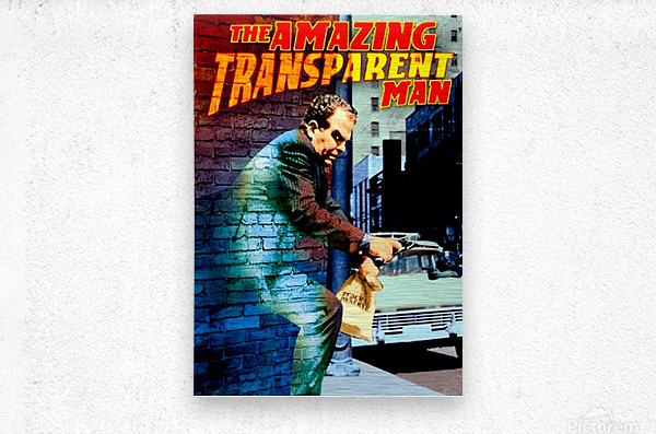 The Amazing Transparent Man 1960 Poster 1  Metal print