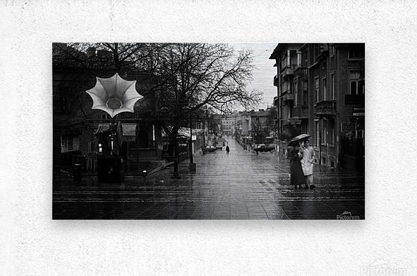 Rainy  Metal print