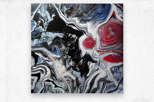 Song of flowers  Metal print