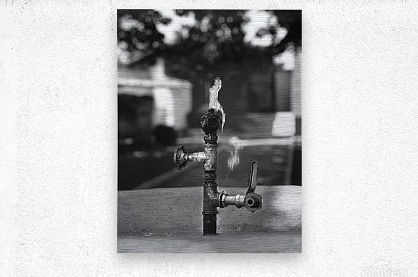 City Park Faucet  Metal print