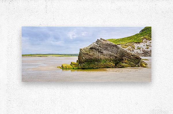 Rock Formations - Maghera Beach 6  Metal print