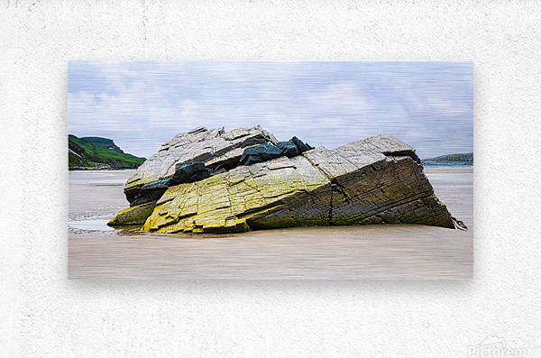 Rock Formations - Maghera Beach  Metal print